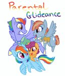 bow_hothoof rainbow_dash scootaloo text thesoleil windy_whistles