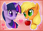 applejack apples mn27 twilight_sparkle