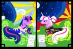 absurdres dress foldawaywings highres moon older stars sun twilight_sparkle