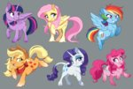 applejack dennyvixen fluttershy main_six pinkie_pie princess_twilight rainbow_dash rarity twilight_sparkle