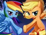 applejack negativefox rainbow_dash