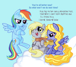 derpy_hooves lily_blossom peppersupreme rainbow_dash scarf