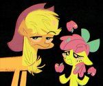 apple_bloom applejack apples highres spacekitsch