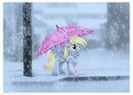 derpy_hooves gardelius snow snowing umbrella winter
