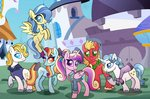 big_macintosh carouselunique fancy_pants highres prince_blueblood princess_cadance sassy_saddles sunshower