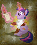 magic quill scroll shirt steampunk twilight_sparkle yokokinawa