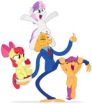 apple_bloom cutie_mark_crusaders octodad ordinary_human_father scootaloo sweetie_belle transparent zutheskunk