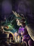 book candle highres inkwell princess_celestia princess_twilight quill twilight_sparkle viwrastupr