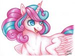 eepiart grown_up highres princess_flurry_heart traditional_art