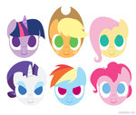 applejack fluttershy main_six naroclie pinkie_pie rainbow_dash rarity twilight_sparkle