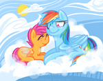rainbow_dash scootaffection scootaloo theknysh