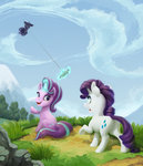 absurdres dress gor1ck highres kite magic rarity starlight_glimmer