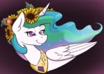 cadetredshirt flower_crown flowers princess_celestia