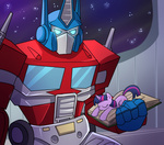 book crossover madmax optimus_prime sleeping twilight_sparkle