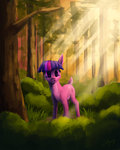 deer forest highres lolliponybrony species_swap trees twilight_sparkle