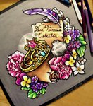 dannii-jo elements_of_harmony flowers quill scroll traditional_art