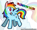 neon-banana rainbow_dash