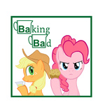 applejack breaking_bad cooking highres muffin parody pinkie_pie poniker poster transparent