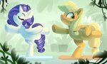 applejack colorfulcolor233 highres rarity yoga