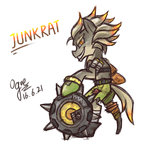 crossover highres junkrat ogre overwatch ponified