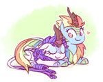 kirin mootch rainbow_dash raridash rarity shipping species_swap