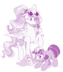 dstears filly glasses highres ice_cream magic princess_celestia sunglasses twilight_sparkle
