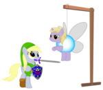 costume derpy_hooves dinky_hooves highres link navi replaymasteroftime shield sword transparent vector weapon