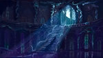 canterlot nighttime plainoasis princess_luna staircase window