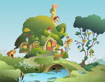 fluttershy's_cottage highres ioverd scenery svg vector