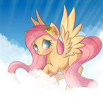 autumnvoyage cloud flowers fluttershy highres