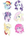applejack fluttershy highres main_six pinkie_pie rainbow_dash rarity silbersternenlicht twilight_sparkle