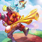 cap crossover electrixocket pinkie_pie pyro rainbow_dash scout team_fortress_2 weapon