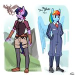 alternate_universe anthro highres personality_swap rainbow_dash siden twilight_sparkle ultimare_universe