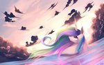 absurdres gianghanez2880 highres princess_celestia water