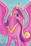 highres princess_cadance sparkleforever traditional_art