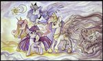 freesavanna princess_cadance princess_celestia princess_luna princess_twilight traditional_art twilight_sparkle