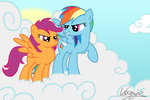 grown_up rainbow_dash scootaloo veggie55
