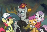 apple_bloom cutie_mark_crusaders gravity_falls hobbes-maxwell parody questionzecora scootaloo staff sweetie_belle zecora