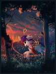 absurdres atlas-66 bag highres magic net original_character star trees