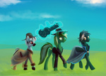 cape discordthetrollest hat lost_destiny lucky_stars magic milia original_character sidewinder suit the_savage_world_of_my_little_pony