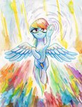 highres pondisdant rainbow_dash traditional_art watercolor