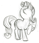 fim_crew lauren_faust production_art rarity sketch