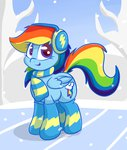 earmuffs lyricbrony rainbow_dash scarf winter