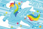 new_year's rainbow_dash year_of_the_horse yousukou