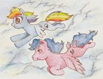 cloud daisymane firefly flying g1 rainbow_dash traditional_art