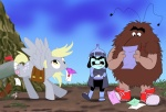 crossover derpy_hooves lurky mail murky_dismal rainbow_brite scruffytoto