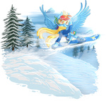 coat goggles kittehkatbar rainbow_dash scarf sick_nasty snowboard winter