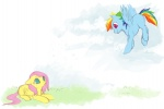 filly fluttershy noel rainbow_dash