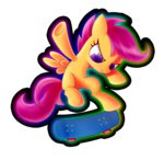 absurdres highres scootaloo skateboard to-nio transparent