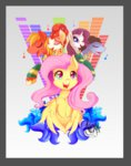 absurdres big_macintosh fluttershy highres rarity singing the_ponytones thenornonthego torch_song